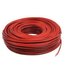 SPEAKERKABEL 2 X 0,75 rood/zwart per 100m LSP-014R-100