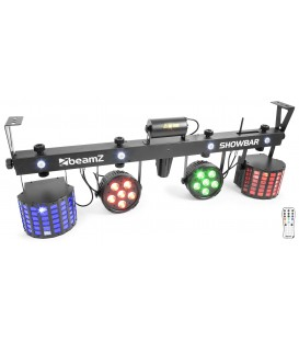 SHOWBAR 2x PAR, 2x Butterfly en R/G Laser DMX IRC beamZ