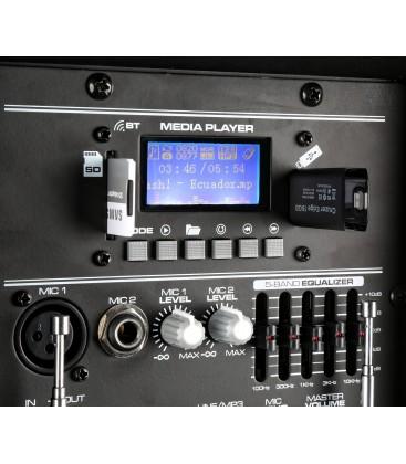 "Mobiele Geluidsinstallatie 12"" 1 Mic 1 UHF Mic 1 Body Pack AP1200PA MKII"