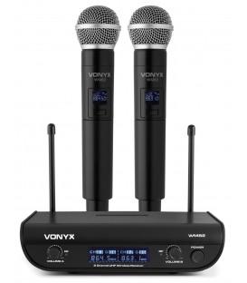 Vonyx WM82 Digitaal UHF 2-kanaals draadloos mic. met twee handhelds