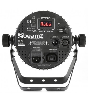 LED FlatPAR 7x 6W 4-in-1 RGBW DMX IRC beamZ BT270