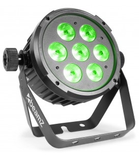 LED FlatPAR 7x 6W 4-in-1 RGBW DMX IRC beamZ BT270