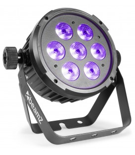 LED FlatPAR 7x 10W 6-in-1 RGBAW-UV beamZ BT280
