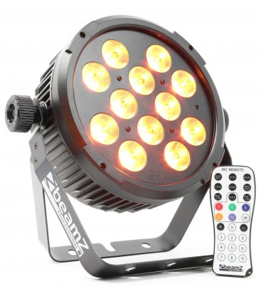 LED FlatPAR 12x 12W 6-in-1 LEDs beamZ BT300