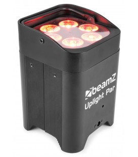 LED Battery Uplight Par 6x 12W beamZ BBP96