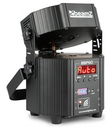 LED Battery Uplighter Set, 6st. in Flightcase met lader beamZ Pro BBP60