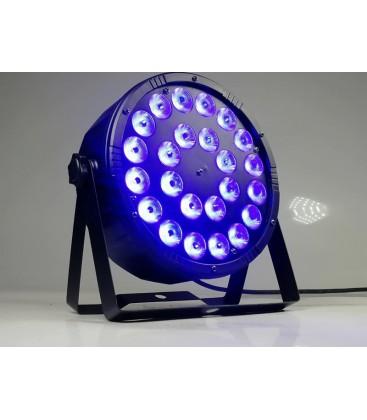 LED FLATPAR 24X4W RGBW 4in-1 PAR64 BT324