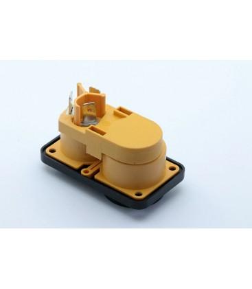 POWERCON True1 IP65 Male Inbouw met afdekkap rubber
