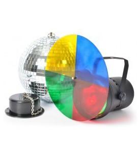 Discoset III met 20 cm spiegelbol en kleurwiel 230v beamZ