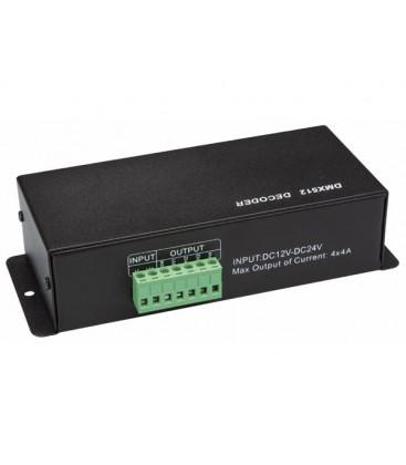 DMX-CONTROLLER VOOR LEDSTRIPS - 4 KANALEN LEDC09