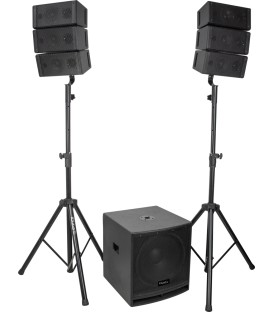 "CUBE15A-ARRAY 2.1 SOUND SYSTEM 15"" SUB & 2 ARRAY IBIZA"
