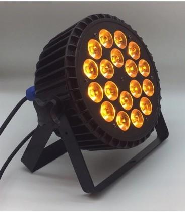 Aluminium LED Par Pro 18 X 18watt RGBWA UV 6-in1 Powercon in-out BAC518