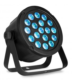 LED SlimPAR45 18x 3W 3-in-1 RBG LED's DMX beamZ
