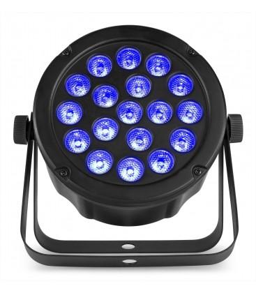 LED SlimPAR45 18x 3W 3-in-1 RBG LED's DMX beamZ