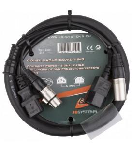 Power DMX kabel XLR M - XLR F & IEC M - IEC F 1,3m B01255