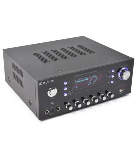 Stereo (Karaoke) versterker met MP3 & FM Skytronic AV-120FM