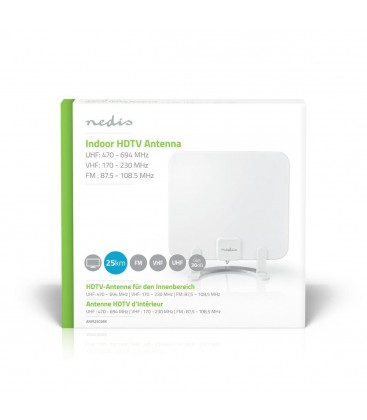 Indoor HDTV Antenne UHF VHF FM DVB-T2 DAB+ ANIR2502BK