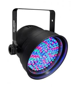 PAR56 DMX 108 LED's 10mm Zwart GLX PLB-56N
