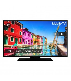 "NIKKEI NLD22MBK 22"" LED HDR DVB-S2/T/C CI+ 12/230V"
