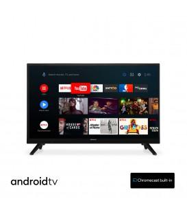 Hitachi 24HE2202 24 inch Smart Android TV Wifi BT S2/C/T2 - 12V en 220V - Chromecast ingebouwd