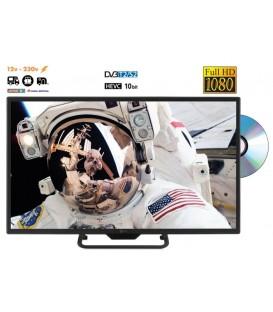 TeleSystem Palco22Led09C + DVD 22inch 55cm 12/230V S2/T2/C LED HD