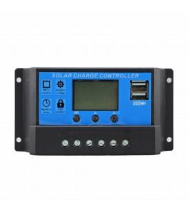 SOLAR LAADREGELAAR PWM 30A 12-24v Display USB