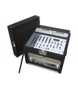 Carpet DJ Mixer Case 5U Front + 11U Top JV CASE