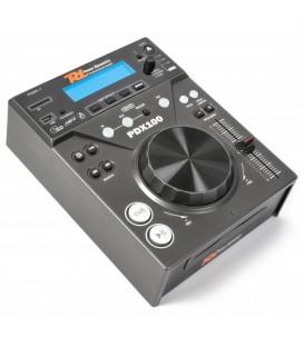 Single Top Speler CD/SD/USB/MP3 Power Dynamics PDX100