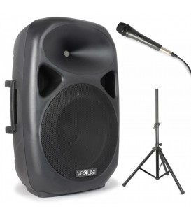 "Actieve Speakerset 15"" SD/USB/MP3/BT met statief Vonyx SPS152"