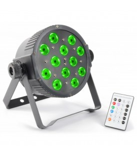 FlatPAR 12x 3W Tri-color LED's DMX IR BeamZ