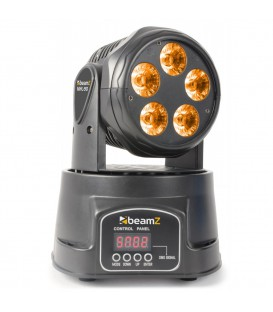 Mini Moving Head Wash 5x 18W RGBAW-UV LEDÂ's beamZ MHL90