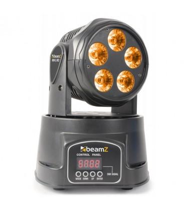 Mini Moving Head Wash 5x 18W RGBAW-UV LEDÂ's beamZ MHL90