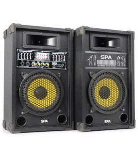 "PA Actieve Speakerset 10"" SD/USB/MP3 Skytec SPA1000Y"