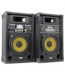 "PA Actieve Speakerset 10"" SD/USB/MP3 Skytec SPA1000Y"
