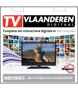 TV Vlaanderen Set - M7 MP-201 Twin 500Gb + kaart
