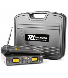 Draadloos Microfoon Systeem UHF 2x 8-Kanaals Microfoons PD782