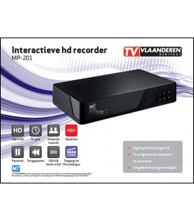 TV Vlaanderen HD Recorder 500Gb + Kaart M7 MP-201