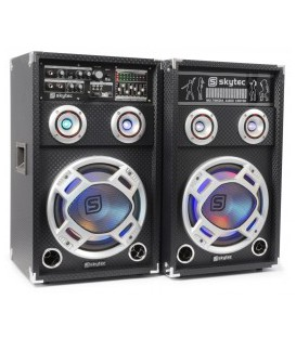 "KA-12 Actieve Speakerset 12"" USB/RGB LED 1200W"