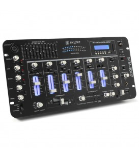 "6-Kanaals Mixer 19"" SD/USB/MP3/LED/Bluetooth Skytec STM-3007"