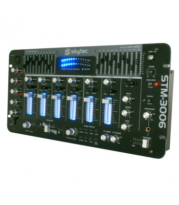 "6-Kanaals Mixer + EQ 19"" 4HE Skytec STM-3006"