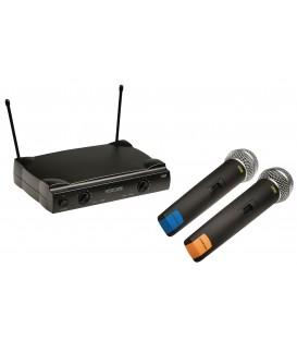 Draadloos mic. Syst. met 2 micr. 4G OK König On-Stage KN-MICW611