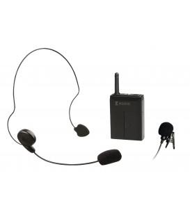 16-kan. Bodypack voor KN-MICW611 -621, incl. Headset en Clip mic