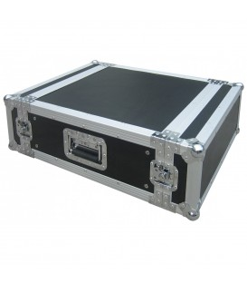 "19"" Rackcase, 4 HE, Hout 9mm, Alu afwerking D 630mm JV CASE 4U"