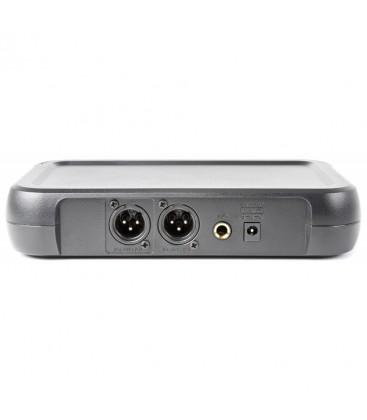 VHF 2-kan. draadloze mic. met 2 Handhelds en Display Vonyx WM512