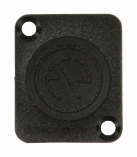 COVER PLATE TERMINAL BOARD BLACK NEUTRIK NTR-DBA