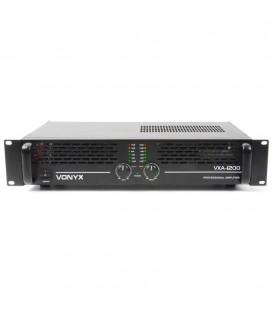 PA Versterker 2x600W Vonyx VXA-1200 II