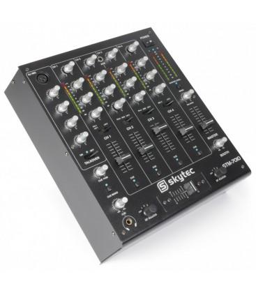 4-Kanaals DJ Mixer USB/MP3  SKYTEC STM-7010