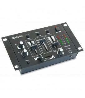 4-Kanaals DJ Mixer  SKYTEC   STM-2211B Zwart