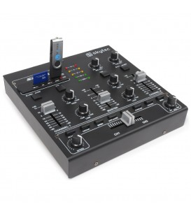 4-Kanaals Mixer + Geluidseffecten USB MP3 Skytec STM-2250