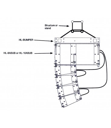 Helium HL-WHOLE Set 168 2 x HL8ASUB + 8 X HL4 + Bumper